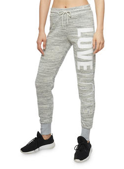 Marled Love Graphic Drawstring Waist Joggers - 1407072299580