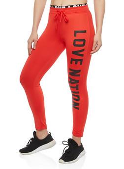 Love Nation Graphic Sweatpants - 1407072299943