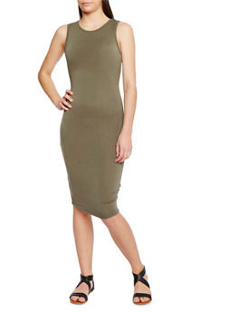 Almost Famous Dress with Cutout Back - 1410015992140