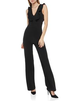Sleeveless Ruffle Jumpsuit - 1410015993856
