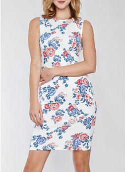Sleeveless Floral Midi Dress - 1410015994053