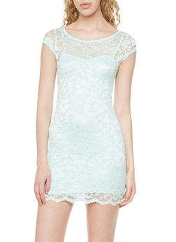 Lace Sweetheart Dress with Back Cutout - 1410015996474