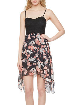 Almost Famous Floral Lace Sweetheart Dress - 1410015998969