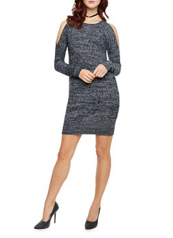 Cold Shoulder Sweater Dress - 1410015999440