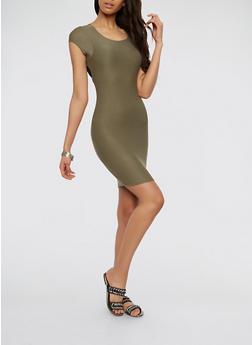 Open Lace Up Back Dress - 1410062700002