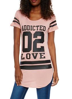 Addicted 02 Love Graphic Tunic Top - 1410062701460