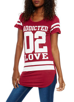 Addicted 02 Love Graphic Tunic Top - 1410062701460