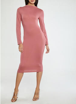 Long Sleeve Midi Dress - 1410062705627
