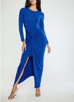 Knot Front Bodycon Maxi Dress - 1410062709862