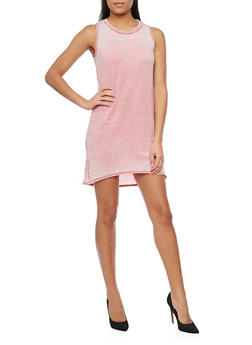 Sleeveless Marled T Shirt Dress - 1410066490167
