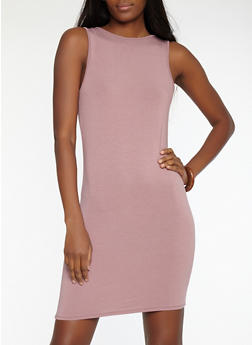 Scoop Back Bodycon Dress - 1410066492061