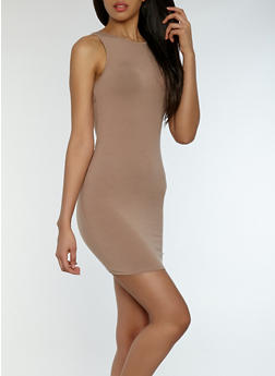 Scoop Back Bodycon Dress - 1410066492061