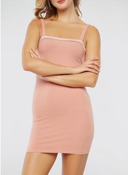 Ribbon Trim Bodycon Dress - 1410066492370