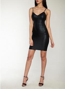 Textured Glitter Knit Bodycon Dress - 1410069393447
