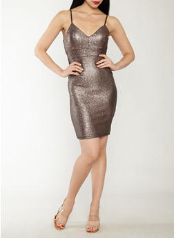 Textured Glitter Knit Bodycon Dress - 1410069393447