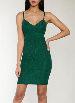 Glitter Knit Bodycon Dress - 1410069393448