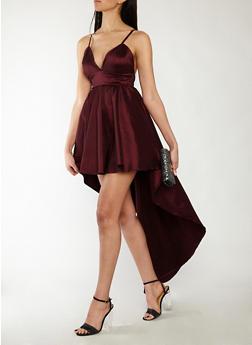 High Low Taffeta Dress - 1410069393516