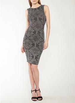 Glitter Knit Cowl Back Dress - 1410069393549