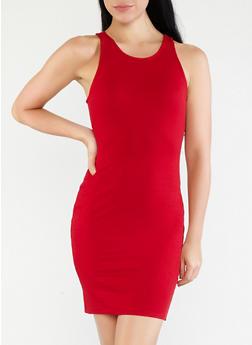 Basic Rib Knit Bodycon Dress - 1410069393591