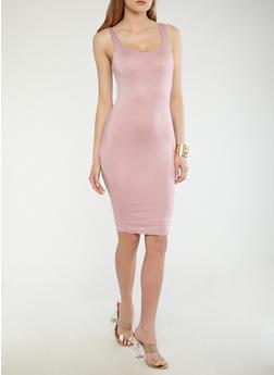 Knit Bodycon Dress - 1410069393694