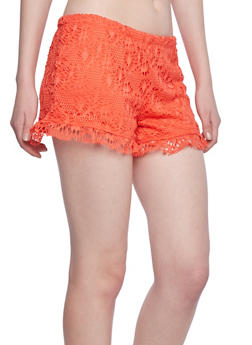 Almost Famous Eyelet Shorts - 1411015993305