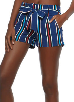 Multi Color Striped Shorts - 1411056574255