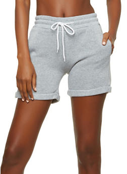 Cuffed Fleece Active Shorts - 1411072299920