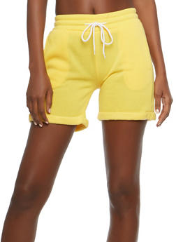 Cuffed Fleece Active Shorts - 1411072299920