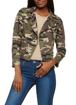 Camouflage Moto Jacket - 1414068198010