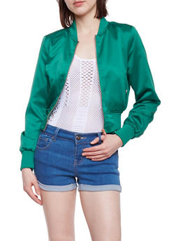 Satin Bomber Jacket - RASTA GREEN - 1414068198435