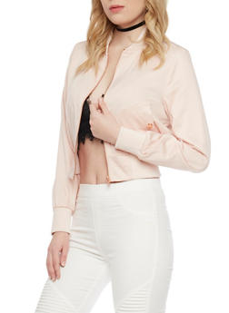 Satin Bomber Jacket - BLUSH - 1414068198435