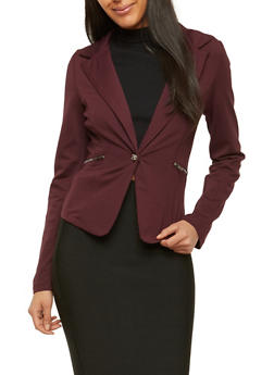 Ponte Zip Pocket Blazer - 1414068198486