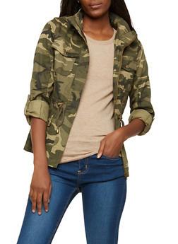 Camouflage Hooded Anorak Jacket - 1414068198660