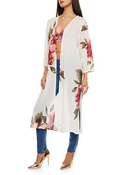 Floral Mesh Duster - 1414069392603