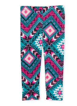 Toddler Girls Aztec Print Leggings - 1501061954300