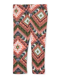 Toddler Girls Aztec Print Leggings - 1501061954301