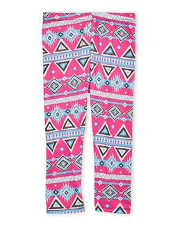 Toddler Girls Aztec Print Leggings - 1501061954602