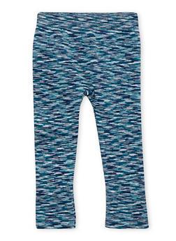 Toddler Girls Space Dye Leggings with Fleece Lining - 1501061958761