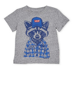 Toddler Boys Levis T Shirt with Racoon Print - 1504070341166