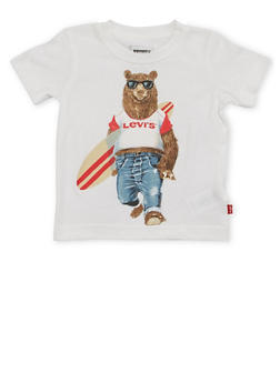 Toddler Boys Levis T Shirt with Surfer Bear Graphic - 1504070341167