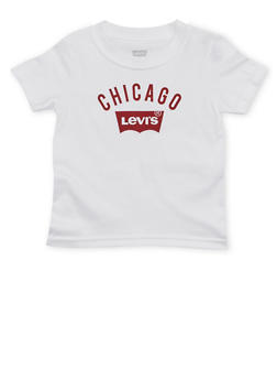 Toddler Boys Levis T Shirt with Chicago Print - 1504070341171