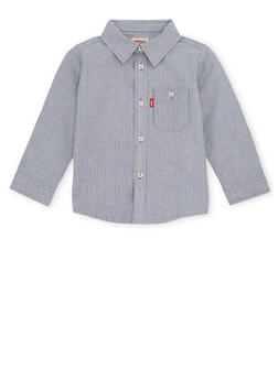 Toddler Boys Levis Button Up Shirt in Pinstripes - 1504070345002