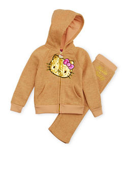 Toddler Girls Hello Kitty Hoodie and Sweatpants Set - 1505050096875