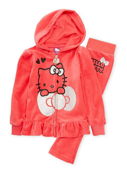 Toddler Girls Hello Kitty Hoodie and Sweatpants Set - 1505050097252