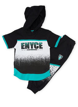 Toddler Boys Enyce Hooded Tee and Joggers Set with Print - 1506054732250