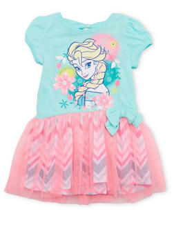 Toddler Girls Tutu Dress with Frozen Graphic - 1508017721227