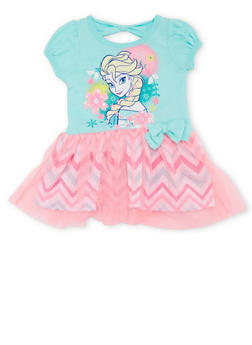 Baby Girl Tutu Dress with Frozen Graphic - 1544017721227