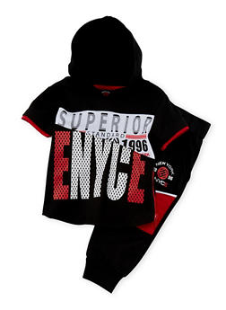 Baby Boy Enyce Hooded Top and Joggers with Superior Color Block Print - 1550054732249