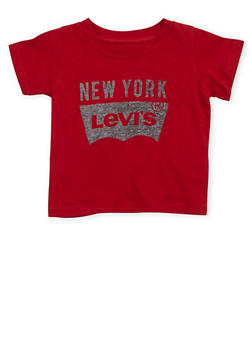 Baby Boy Levis T Shirt with New York Print - 1562070341137