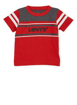 Baby Boy Levis T Shirt with Stripes and Logo Design - 1562070344000